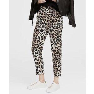 BANANA REPUBLIC Hayden Fit Leopard Ankle Pant S